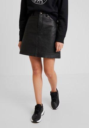 MONROE - Áčková sukně - black