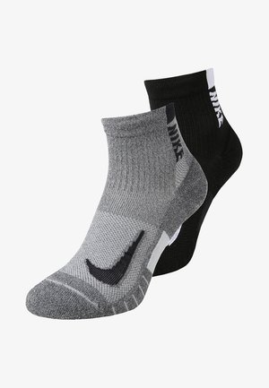 ANKLE 2 PACK UNISEX - Sports socks - grey/black
