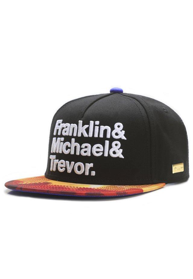 MISTER TEE CAP G-THANG CAP - Pet - black/mc