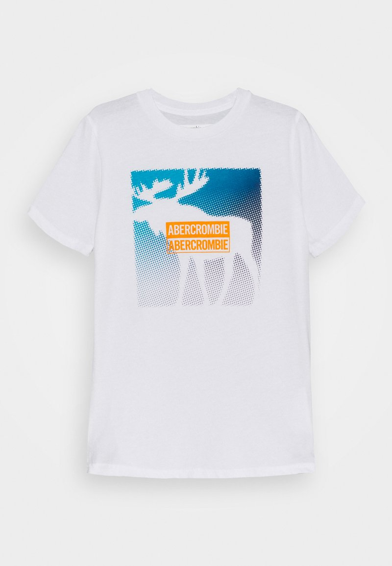 Abercrombie & Fitch - PRIMARY LOGO - T-shirt print - white