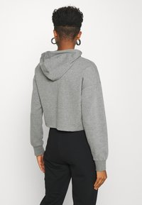 Even&Odd - BASIC - Cropped Hoodie - Bluza z kapturem - mottled grey