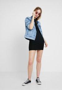 ONLY - ONLPABLO CAPSLEEVE DRESS - Shift dress - black - 1