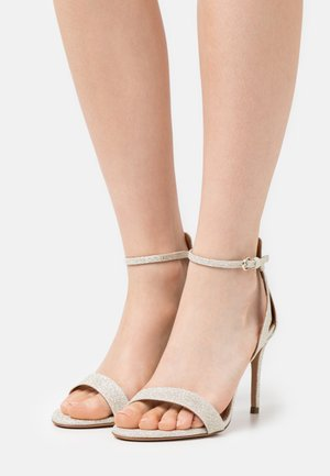 Sandaler - glitter platin