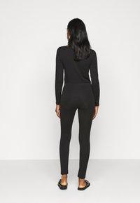 Even&Odd Petite - 2 PACK  - Leggings - black/mottled dark grey - 3