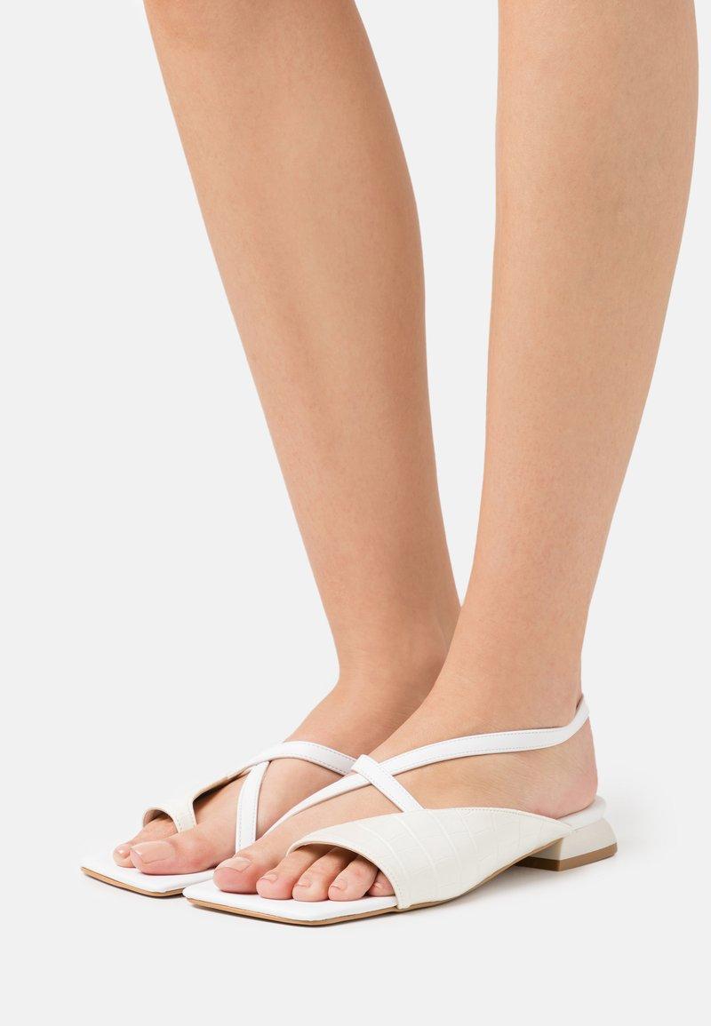 Trendyol - T-bar sandals - white