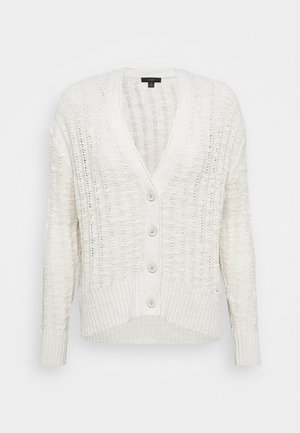 POINT SUR TEXTURED VNECK CARDIGAN - Kardigan - natural