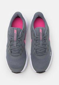 Nike Performance - REVOLUTION 5 UNISEX - Neutral running shoes - smoke grey/pink glow/photon dust/white - 3