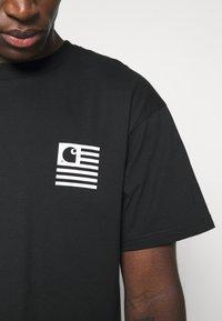 Carhartt WIP - WAVY STATE - Printtipaita - black/white - 3