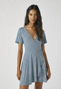 PULL&BEAR - Day dress - stone blue denim - 0