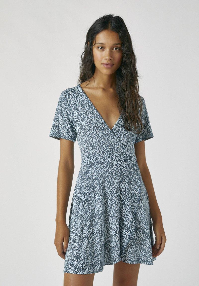 PULL&BEAR - Day dress - stone blue denim