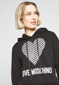 Love Moschino - Mikina skapucí - black - 4