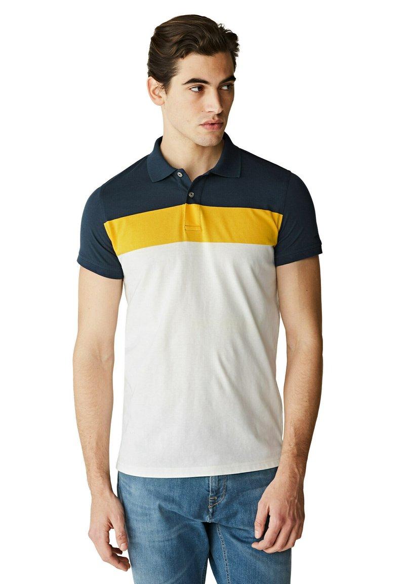 McGregor - Polo shirt - white yellow blue