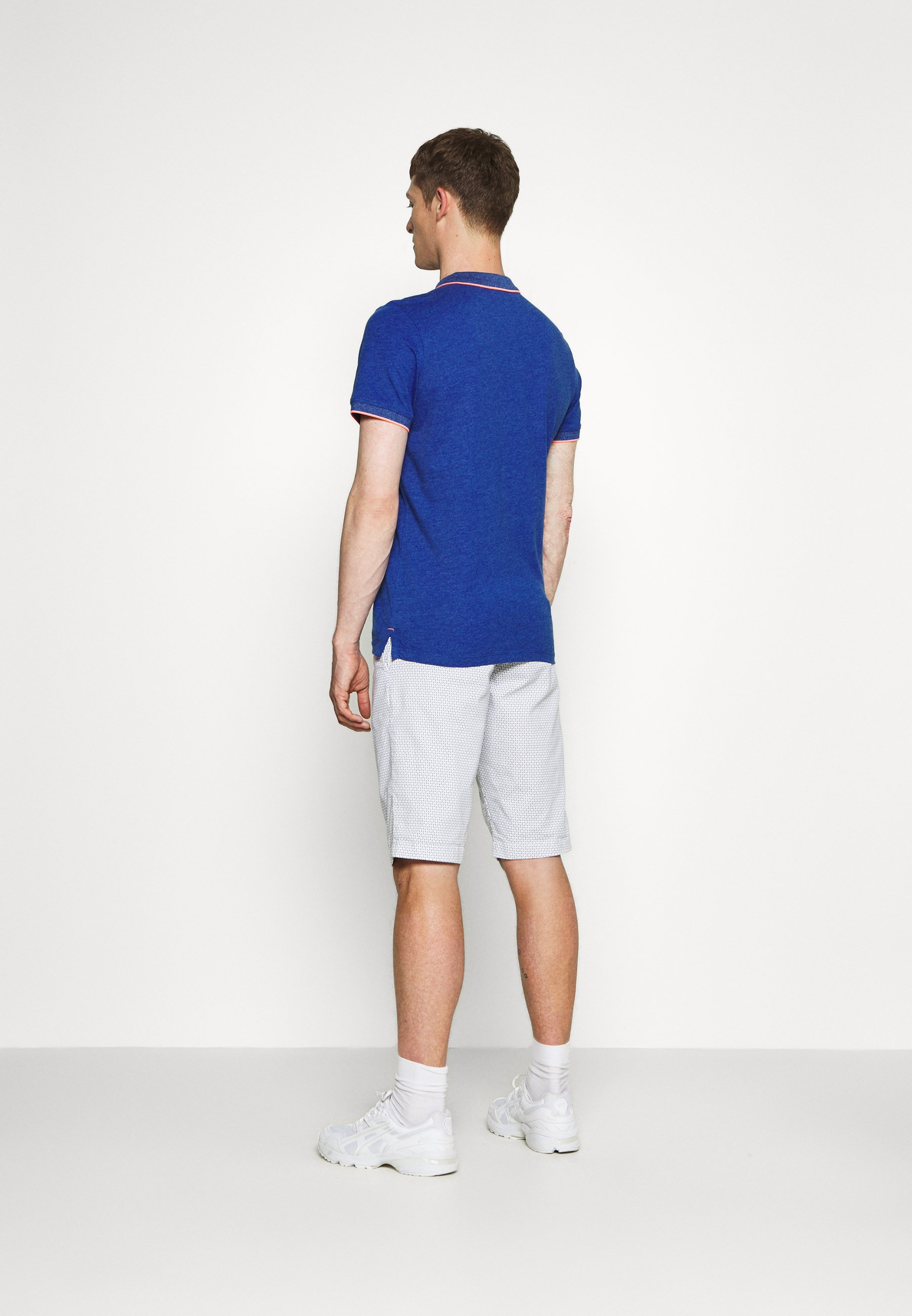 TOM TAILOR WITH TIPPING - Polo shirt - royal blue/white melange g4S3t