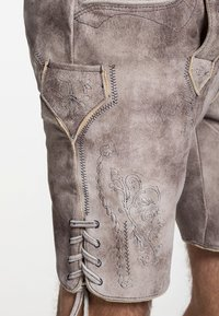 Spieth & Wensky - GABRIEL - Leather trousers - beige - 2