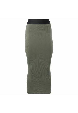 CARDI B RIB - Pencil skirt - grey
