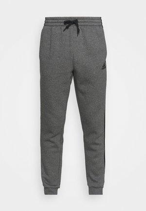 3 STRIPES  ESSENTIALS - Spodnie treningowe - dark grey heather/black