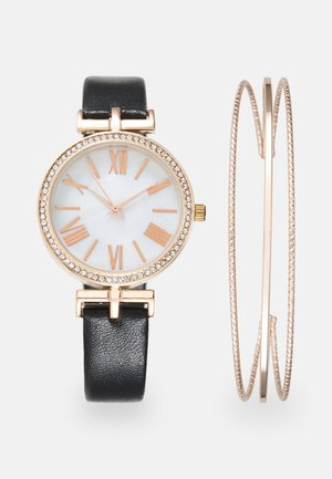 Watch - black/rose gold-coloured