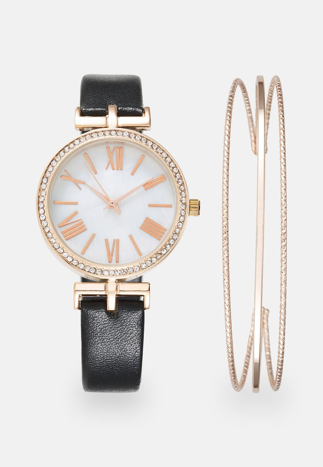 Montre - black/rose gold-coloured