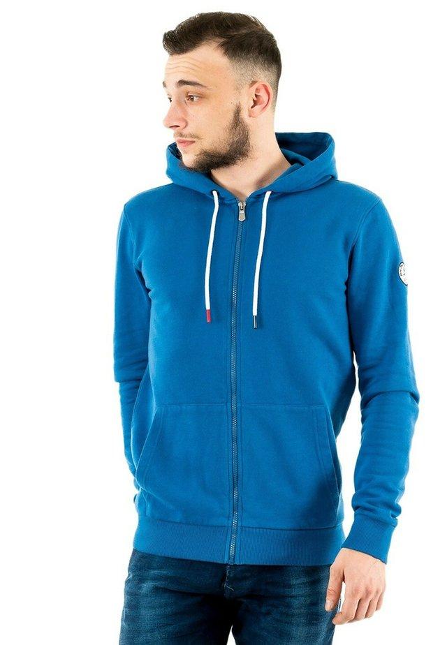 MEX - veste en sweat zippée - bleu
