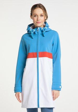 Short coat - retroblau weiss