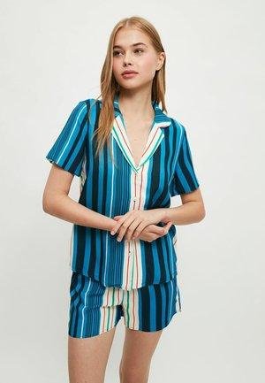 Pyjama set - light blue, white
