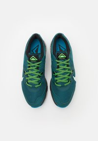 Nike Performance - JUNIPER - Trail running shoes - dark teal green/light silver/black - 3