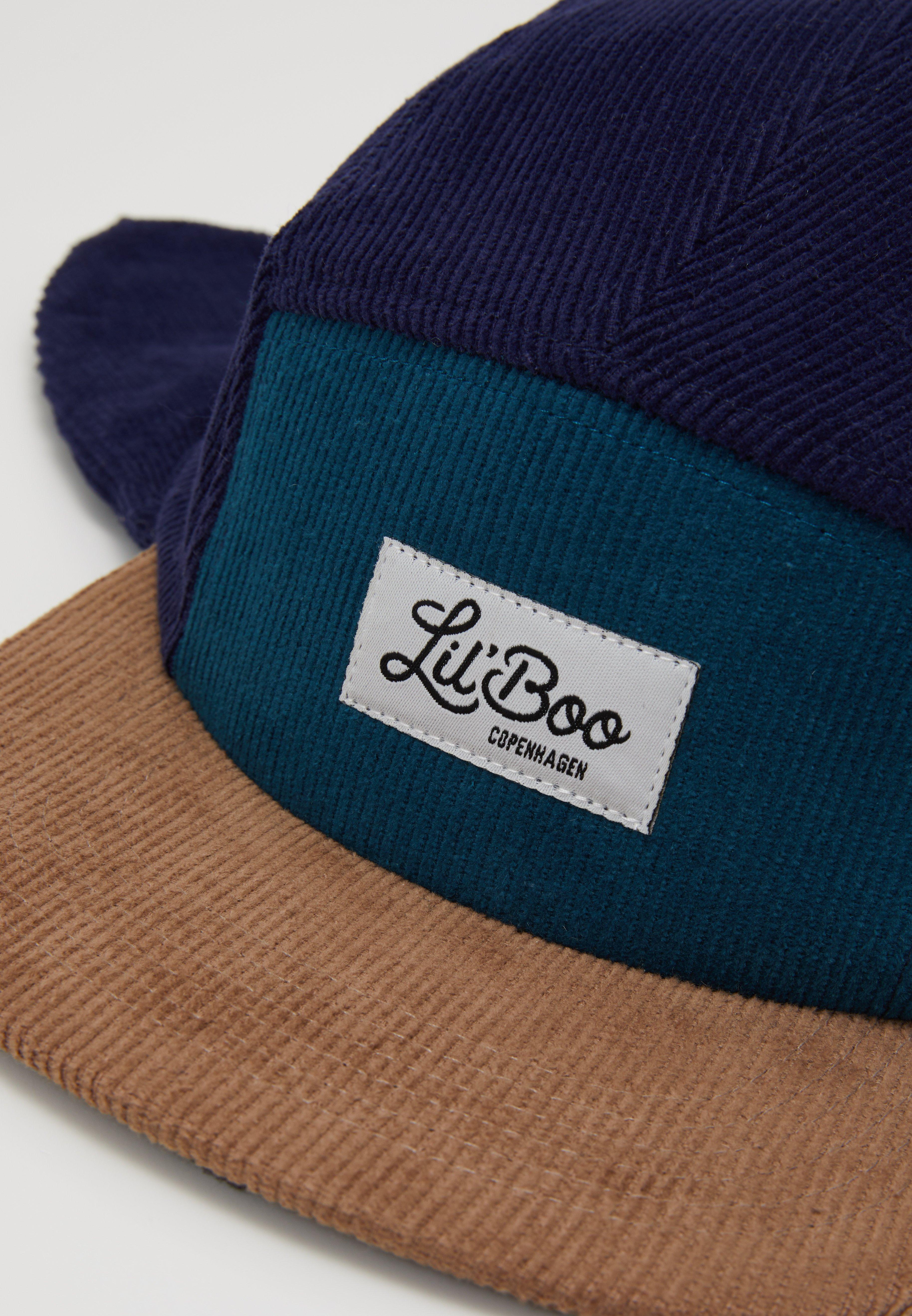 Lil'Boo CORDUROY BLOCK PANEL EARS - Cap - green/blue/grønn IDAyHFzrXSe6bbp