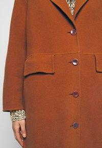 Proenza Schouler White Label - DOUBLEFACE COAT WITH SIDE SLITS - Zimní kabát - chestnut - 8