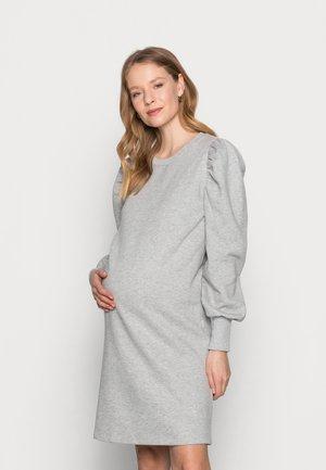 MLBRAELYN DRESS - Žerzejové šaty - light grey melange