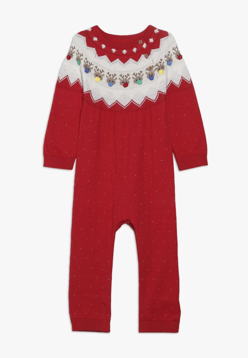 mothercare - BABY FESTIVE FAIRISLE - Jumpsuit - red