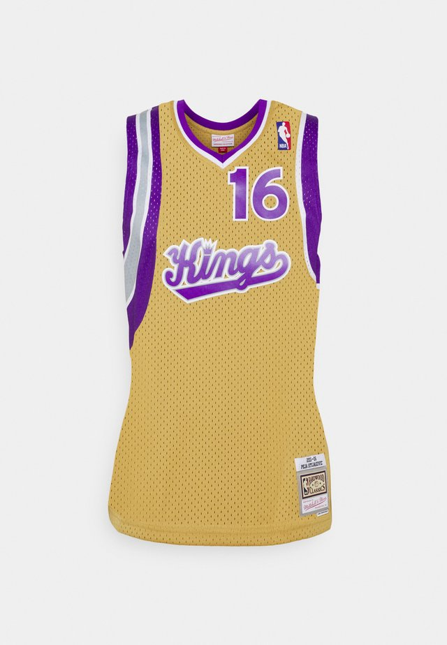 NBA SACRAMENTO KINGS 2005-2006 SWINGMAN JERSEY SACREMENTO KINGS  - Klubové oblečení - light gold