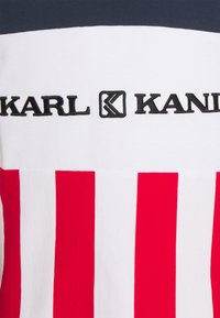 Karl Kani - RETRO BLOCK STRIPE TEE - Print T-shirt - white - 2