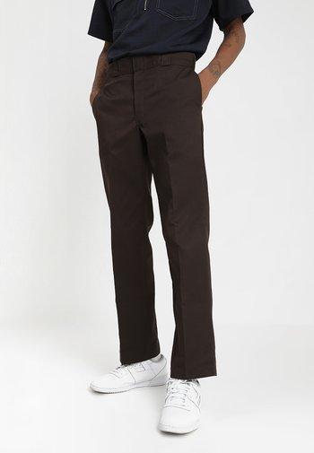 874 ORIGINAL FIT WORK PANT - Kalhoty - dark brown
