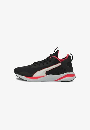 Neutral running shoes -  black ignite pink