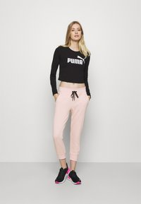 DKNY - TRACK LOGO - Tracksuit bottoms - rosewater - 1