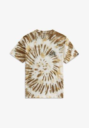 MN LOOK AHEAD SS - T-shirt med print - nutria/tie dye