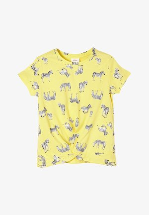 Print T-shirt - light yellow aop