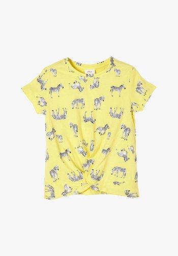 T-Shirt print - light yellow aop