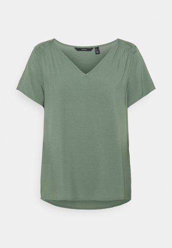 VMNADS SHOULDER FRILL - T-shirts - laurel wreath