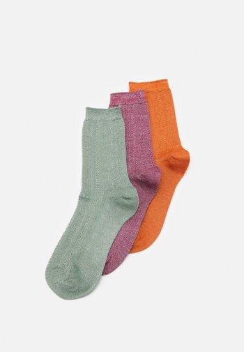 GLITTER DRAKE SOCK 3 PACK - Socks - mistletoe