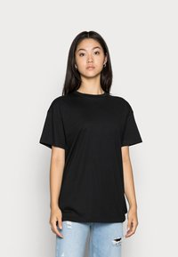 Vero Moda - VMOBENTA OVERSIZED 2-PACK - Basic T-shirt - black & white - 2