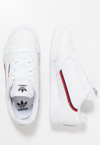 adidas Originals - CONTINENTAL 80 - Matalavartiset tennarit - footwear white/scarlet/collegiate navy - 0