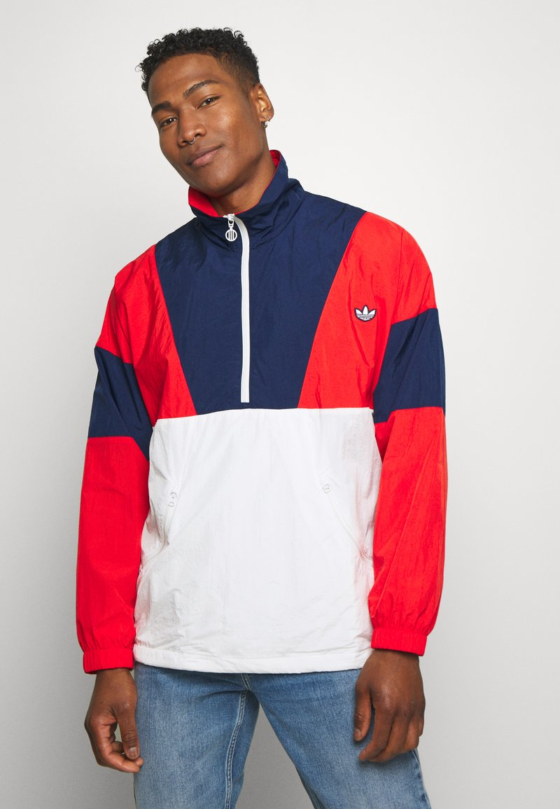 adidas Originals - SAMSTAG SPORT INSPIRED TRACKSUIT JACKET - Windbreaker - red/white