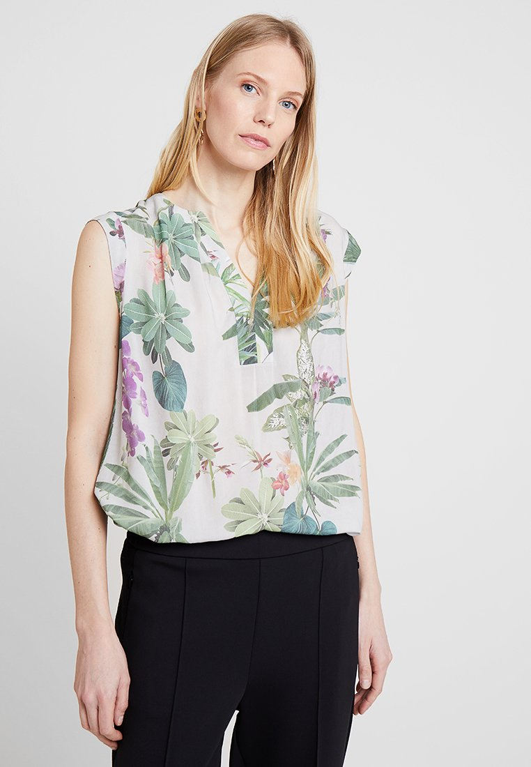 Cartoon - Blouse - taupe/green