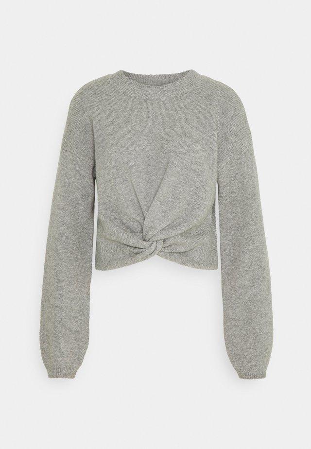 REVERSIBLE TWIST FRONT CREW - Pullover - grey