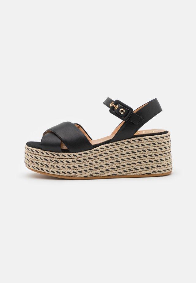 JAMAICA - Sandalen met plateauzool - schwarz