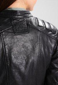Gipsy - Veste en cuir - black - 6