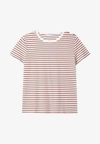 Stradivarius - T-shirt z nadrukiem - red - 4