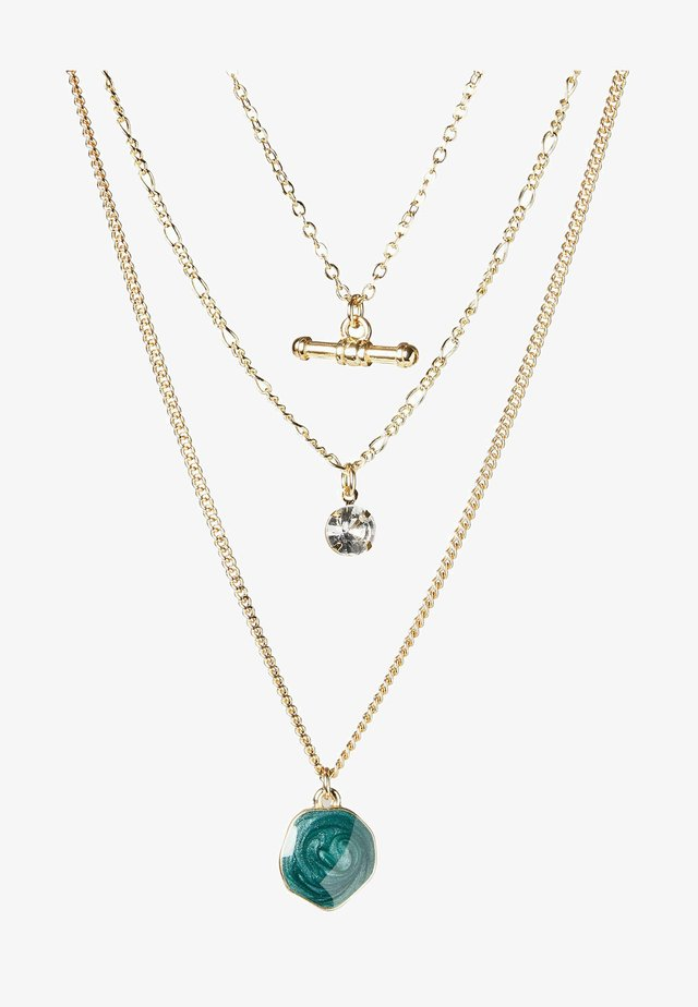 Ketting - gold/blue