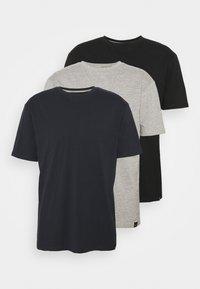 black/navy/grey marl